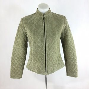 Revue Jacket  Full Zip 100% Leather Lined Quilted